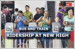 Bus and train ridership rises to new high
