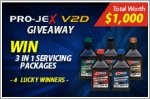 Pro-Jex V2D Giveaway - Up to $1,000 worth of servicing packages to be won!