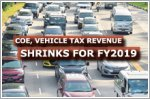 COE, vehicle tax revenue shrinks for FY2019