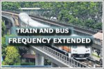 Trains and buses to run at longer intervals