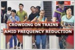 Crowding experienced on some trains due to reduced frequency
