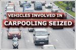 Two vehicles seized after drivers caught carpooling