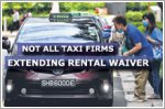 Most taxi firms unlikely to extend rental waiver