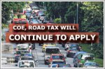 COE and road tax will continue to apply to private cars