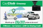 Car Club Giveaway - Up to $200 of Rental Credits and a Car Camera to be won