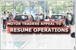 Motor traders appeal for vehicle sales to resume