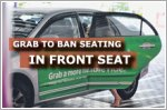 Grab to ban passengers from front seats in rides