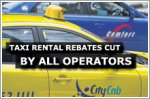 All taxi operators cut taxi rental rebates for June