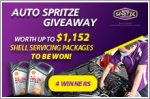 Auto Spritze Giveaway - Servicing packages worth up to $288 each to be won!