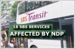 18 SBS services affected by the National Day Parade