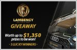 Lambency Detailing Giveaway - Up to $1,350 worth of Grooming packages to be won