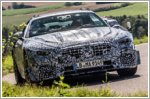 Pre-production models of the Mercedes SL Roadster undergo road tests