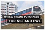 LTA purchases 40 new trains for the North-South and East-West MRT Lines