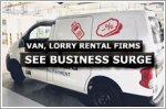 Van, lorry rental firms see surge in business