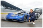 Nico Rosberg tests the Volkswagen ID.R electric race car