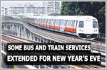 Some bus and train services to be extended on New Year's Eve