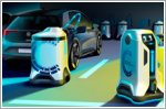 Volkswagen presents a vision for the future, a mobile charging robot