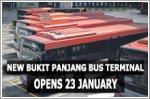 New bus terminal for Bukit Panjang opens on 23 January