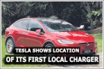 Tesla shows location of its first charger in Singapore