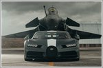 A match-up of superlatives: Bugatti Chiron Sport meets Dassault Rafale Marine