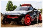 The Audi RS Q e-tron undergoes testing for the Dakar rally