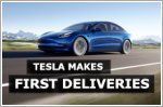 Tesla delivers its first cars in Singapore