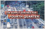 COE supply to shrink across all categories for fourth consecutive quarter