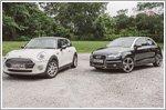 Comparison - Audi A1 1.4 TFSI [122bhp] (A) & MINI Cooper 2014 1.5 (A)