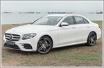 The Mercedes E300 is luxurious and safe