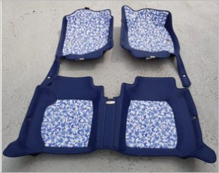 Neomat Batik Blue 4D Car Mat