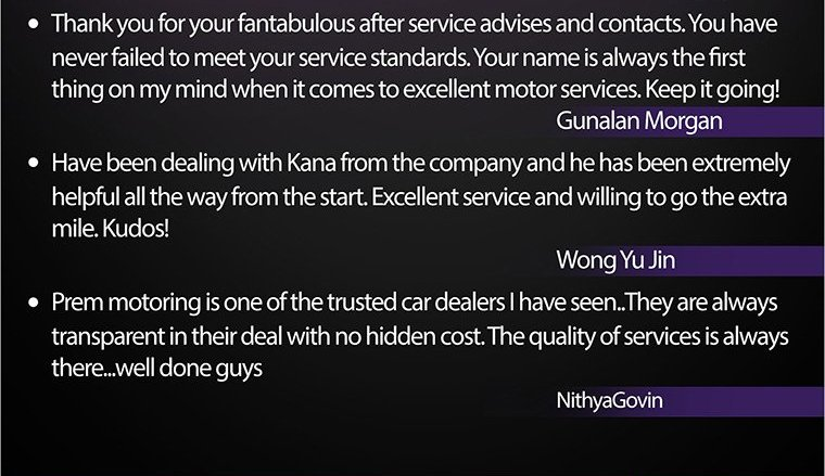 Feedback From Our Customer #1